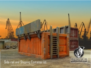 Shipping Container with rail